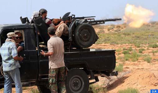 Libye 10 membres de l'EI tués dans des combats à Syrte copier