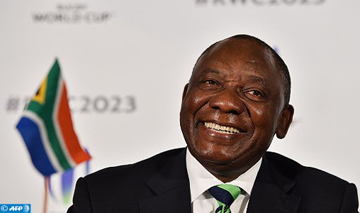 (FILES) This file photo taken on September 25, 2017 shows South Africa's deputy President Cyril Ramaphosa taking part in a press conference after South Africa presented their bid to host the 2023 Rugby World Cup in London. South African deputy president Cyril Ramaphosa was elected head of the ruling ANC party Monday, winning a bruising race that exposed deep rifts within the organisation that led the struggle against apartheid.  / AFP PHOTO / Glyn KIRK