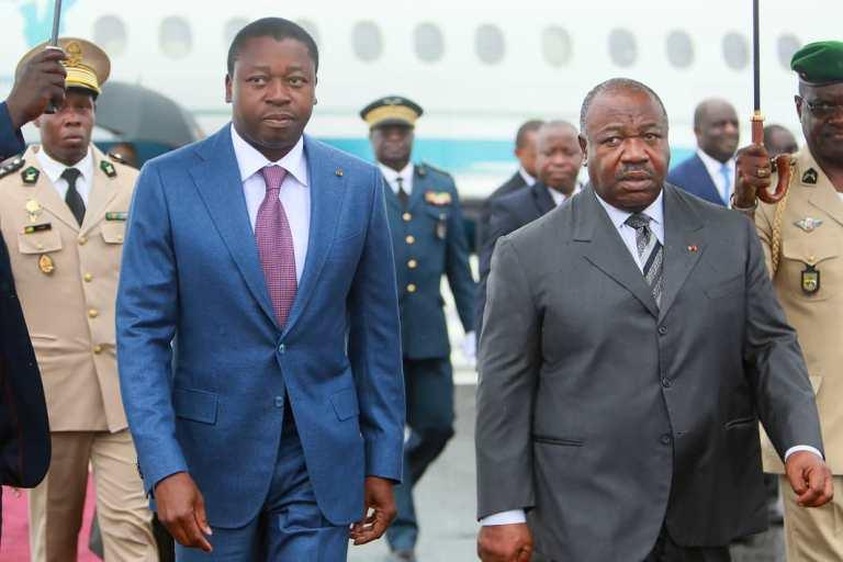 Faure Essozimna Gnassigbéet Ali Bongo à Libreville