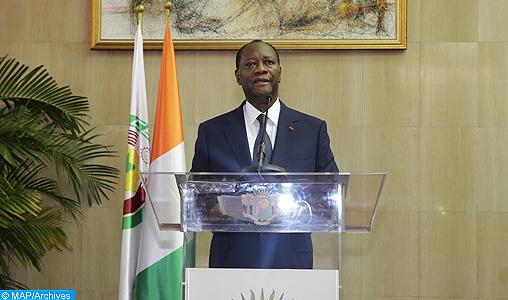 Le Président Alassane Dramane Ouattara, donne, dimanche (02/03/14) à Abidjan, une déclaration à la presse.