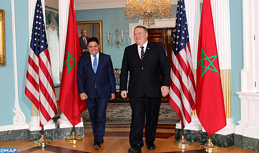 Bourita et le secrétaire d'Etat américain Mike Pompeo-M
