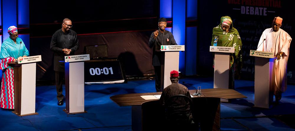 VP Osinbajo speaks during the TV debate