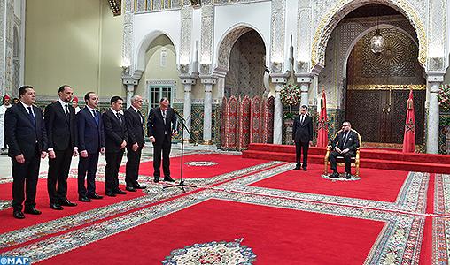 SM le Roi reçoit et nomme cinq nouveaux ministres - M
