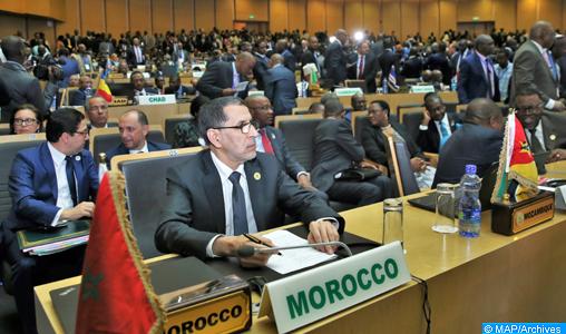 """Les travaux du 30ème sommet ordinaire des Chefs d'Etat et de gouvernements de l'Union africaine (UA) se sont ouverts dimanche (28/01/18) à Addis-Abeba, avec la participation du Maroc. La délégation marocaine lors de ce sommet, qui se tient sur le thème """"Gagner la lutte contre la corruption : une voie durable vers la transformation de l'Afrique"""", est conduite par le Chef du gouvernement, Saad Eddine El Othmani, qui représente Sa Majesté le Roi Mohammed VI."""